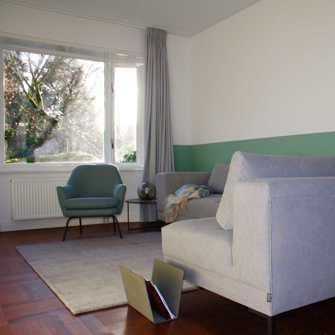 Groen wit interieur